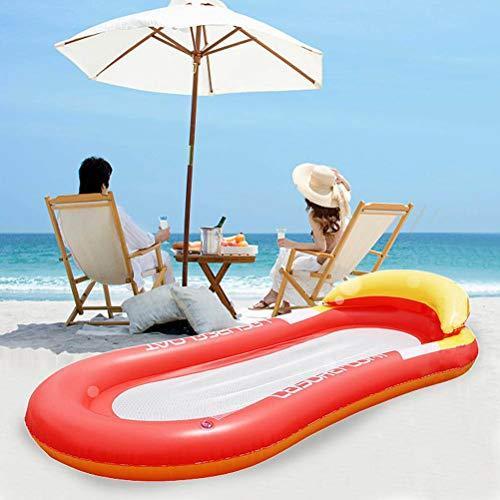 HSRG Hamaca flotante de verano con fila, plegable, portátil, de malla de agua, para piscina, tumbona, flotador, balsas inflables, piscina, aire, silla flotante ligera