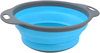 1Pcs Collapsible Silicone Colander Folding Kitchen Silicone Strainer Fruit Vegetable Strainer Creative Foldable Durable Ki...