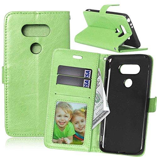 nancencen Compatible with Handyhülle LG G5 / H868 (5,3 Zoll) Lederhülle Neu Style Acht Farbe Weich PU Flip Case Ledertasche/Schutz Etui, Karten Slot Foto Wallet Hülle