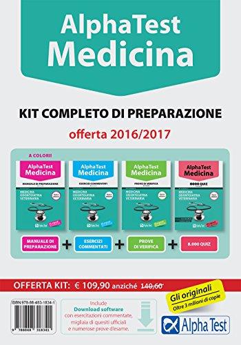 Alpha Test. Medicina. Kit completo di preparazione. Con software di simulazione
