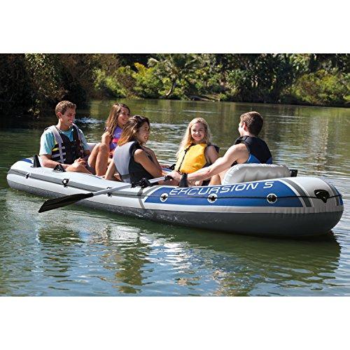 5 Persons on a Heavy Duty Fishing Boat Raft