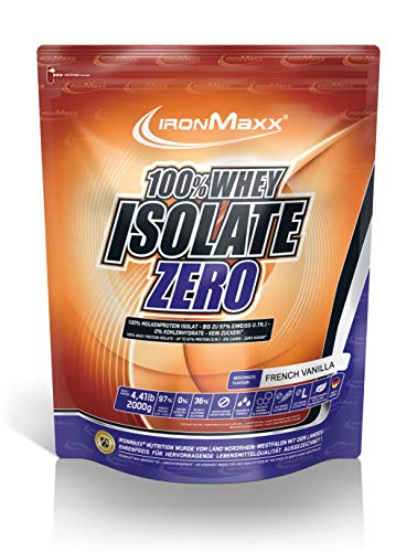 IronMaxx 100% Whey Isolate - 2000g Beutel - 80 Portionen - Vanille - Molkenprotein Pulver - Eiweiß-Shake mit 98% Protein-Konzentration (i.Tr.) - Wasserlöslich - Designed in Germany