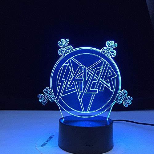 3D Illusie Lampmetal Nighthawk Killer met Logo Afstandsbediening Kinderdag Verjaardagscadeau