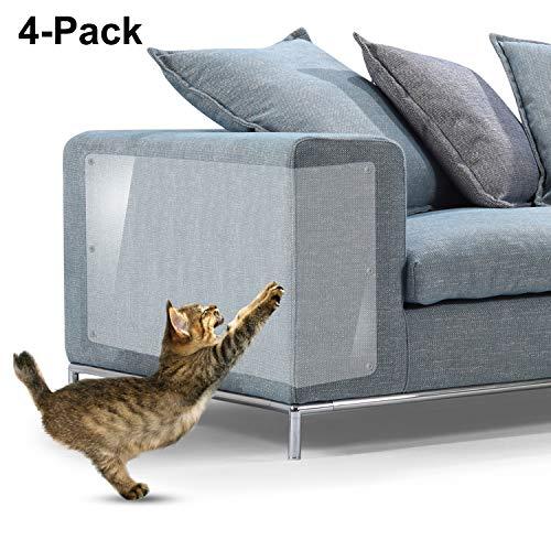 Protectores contra rayones para muebles, 4 paquetes X-Large Protectores protectores de sofá de vinilo flexible superior con pasadores para proteger sus muebles tapizados, 18