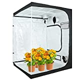 VERTOR VT 60'x60'x80' Reflective Mylar Hydroponic Grow Tent with Observation Window and Floor Tray for Indoor Plant Growing 5x5 (for 6 Plants)