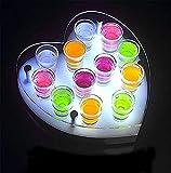 XIEZI Estante De Exhibición De Botellas Iluminado De Licor De Barra De Soporte De Exhibición De Botellas, Estantes De Vino Estantes De Exhibición De Botellas De Licor con Iluminación Led | L