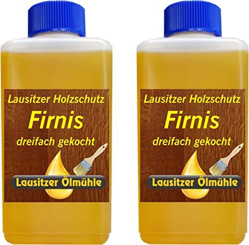 500 ml Leinöl Firnis Holzöl Holzschutz Holzpflege dreifach gekocht und harzfrei