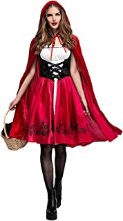 Sulida Halloween Little Red Riding Hood Costume Dress S