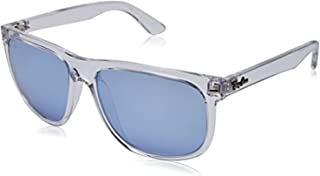 Bundle: Ray-Ban RB4147 Trasparent/Blue Flash Silver 56mm & Carekit