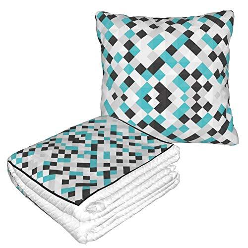 Manta suave 2 en 1 de forro polar, colorida para sofá, cama, sofá, oficina, para hombres y niñas