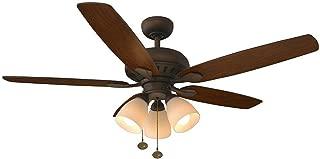 Hampton Bay Rockport 52 in. LED Oil-Rubbed Bronze Ceiling Fan
