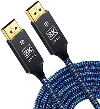 Justitude 8K Mini 3.3ft Displayport to Displayport Cable