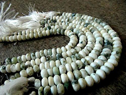 Shree_Narayani Perlas de piedra preciosa facetadas de Rondelle, de 8 a 10 mm, cuentas semipreciosas de 8 pulgadas de largo, se venden por hebra de piedra natal de 1 hebra