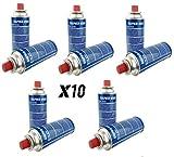 val Pack 10 Cartuchos de Gas Super Ego 227 g para Camping, hornillo, Quemador etc, Envíos en 24h