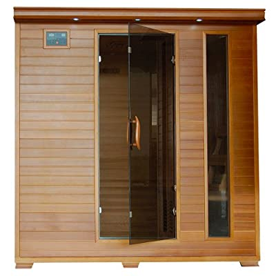 Radiant Saunas BSA1323 6-Person Cedar Carbon Infrared Sauna, 5