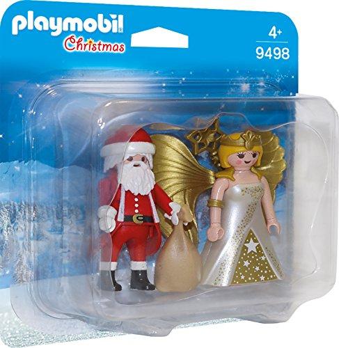 Playmobil 9498 Duo Pack Weihnachtsmann und Engel, Unisex-Kinder
