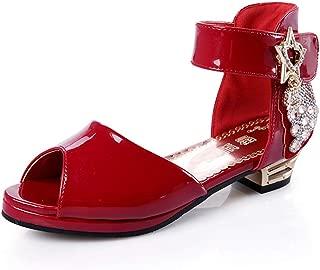 通用 HB Girls Princess Ballet Shoes Plat Glitter Sandal Dance Party Shoes School Shoes for Dress