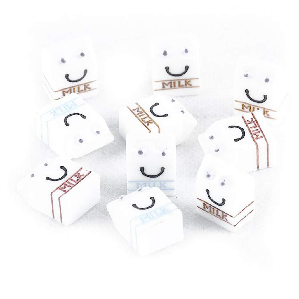 Amazon.es: non-brand 10 Unidades Caja de Leche de Miniaturas de Resina de Accesorio Cocina de Casa Muñeca: Juguetes y juegos