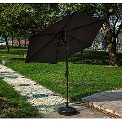 2.5M Outdoor Self Charging 30 LED Parasol Patio Solar Sun Shade Garden Cantilever Hanging Umbrella - Tube en Aluminium (Couleur: Noir)