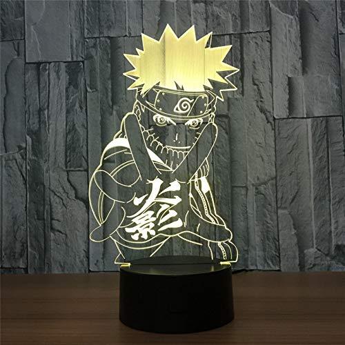 3D-LED-Nachtlicht mit Actionfigur, 7 Farben, optische Täuschung, Tischlampe, Heimdekoration, Geschenk