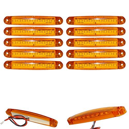 10x 9 SMD LED Begrenzungsleuchten Gelb 12V 24V Positionsleuchten LKW Anhänger