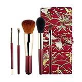 El Pincel de Maquillaje para Principiantes Conjunto Red de Red Femenina Recomendada Belleza Portátil Traje Pequeño Cepillo Mágico Cepillo de Cejas Cepillo de Labios A ++