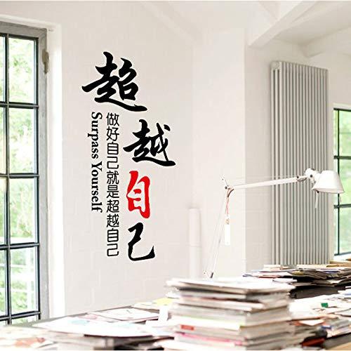Sticker mural bricolage Home Decor-Surpassez-vous-Lettres pour Design Stickers Design School Company affiches Stickers muraux