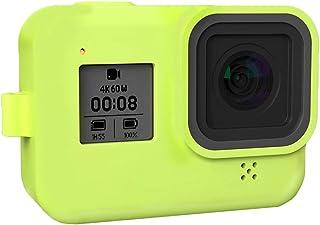 Silikonhülle für GoPro Hero 8 Schutzhülle Silikon Case Skin Housing Cover Bag für GoPro Hero 8 Black Action Camera Zubehör Grün
