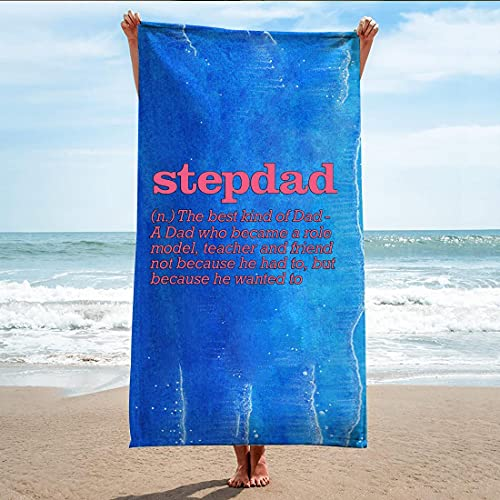 Best Step Dad Funny from Kids Stepdad Step Dad Bath, Beach Towel