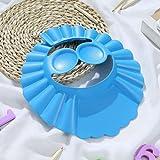 KUATAO Protector de champú para niños, visera de ducha de bebé, gorra de silicona ajustable, visera de baño, champú para lavar el cabello, apto para niños mayores de 9 meses