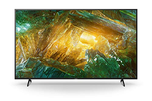 Sony KD-55XH8096 Bravia 139 cm (55 Zoll) Fernseher (Android TV, LED, 4K Ultra HD (UHD), High Dynamic Range (HDR), Smart TV, Sprachfernbedienung, 2020 Modell) Schwarz