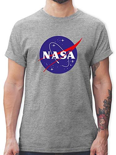 Statement - NASA Meatball Logo - XXL - Grau meliert - NASA Tshirts - L190 - Tshirt Herren und Männer T-Shirts
