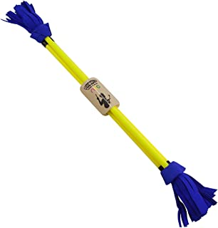 Juggle Dream Neo Fibreglass Flower Devilstick & Fibreglass Hand Control Sticks (Yellow/Blue)