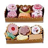 bee SMART Keks mit Kuchen in der Serviertabletts, 12 Stücke aus Holzs