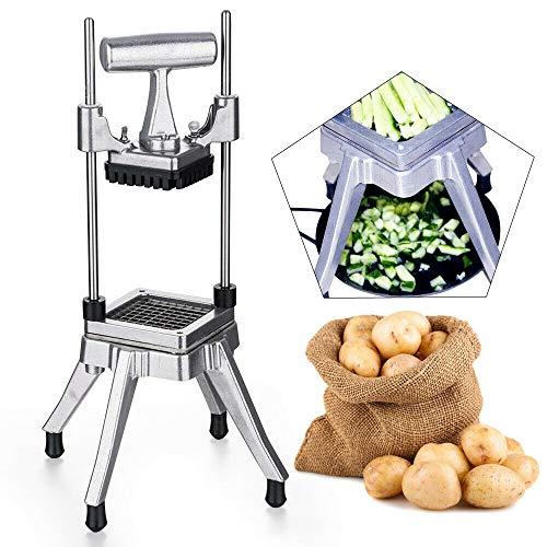 Wangkangyi Kartoffelschneider Pommesschneider Vertikaler Gemüseschneider Pommesfritesschneider Gastro Schneider für Kartoffel Gemüse Obst Stifte oder Ecken selbstgemachte Pommes Frites