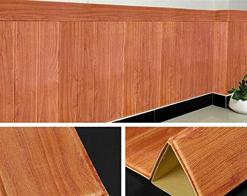 kengbi Fácil de decorar popular duradero papel pintado autoadhesivo impermeable grano de madera Fondos 3D TV fondo de sala de estar papel pintado mural dormitorio decorativo 3D pared etiqueta