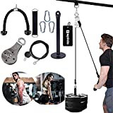 Spiido Pulley Cable Machine Attachment System with Loading Pin Arm Muscle Strength Fitness Equipment Home Gym Workout Equipment for Pulldowns, Biceps Curl, Triceps Extensions (A)