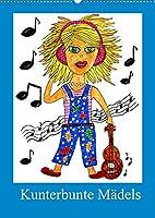 Kunterbunte Maedels (Wandkalender 2022 DIN A2 hoch): 12 lustige Maedchen in vielen Lebenslagen (Monatskalender, 14 Seiten )