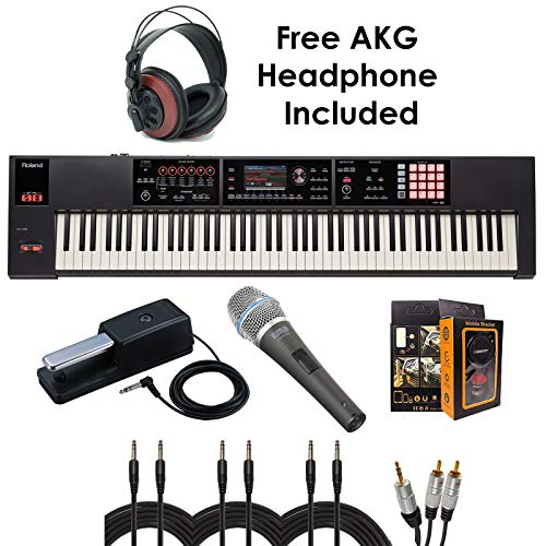 Fantastic Prices! Roland PKG FA-08 88-key Weighted-action Music Workstation – Package Bundle with ...