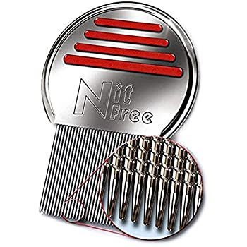 Nit Free Terminator Lice Comb Professional Stainless Steel Louse and Nit Comb for Head Lice Treatment Removes Nits COLORS MAY VARY