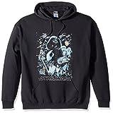 STAR WARS Unisex-Adult's Men's Galaxy of Graphic T-Shirt, Black // Hoodie, Medium