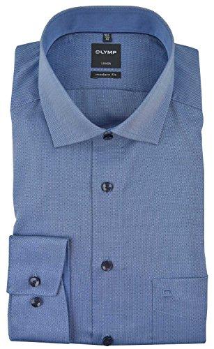 OLYMP Herren Hemden Modern Fit Langarm blau (51) 41