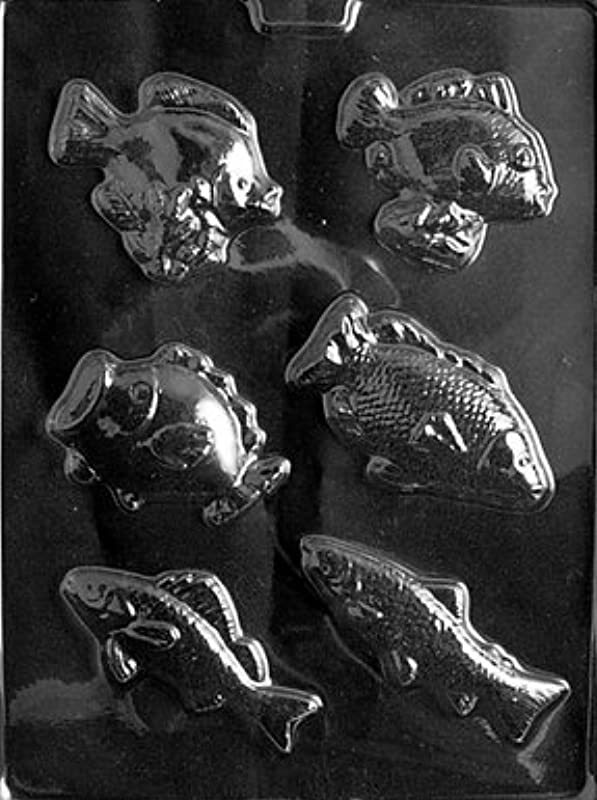 Cybrtrayd N044 Assorted Fish Chocolate Candy Mold With Exclusive Cybrtrayd Copyrighted Chocolate Molding Instructions