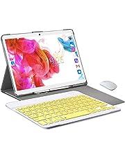 Tablet PC da 10 pollici-Android 9.0, Quad Core, scheda Dual Sim 4G LTE, 64 GB di RAM, 4 GB di RAM, WiFi / Bluetooth / GPS / OTG, Stereo con doppi altoparlanti-Argento…