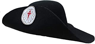 Sombrero peregrino, ajustable. Parche distintivo bordado. Pilgrim hat.