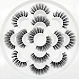 3D Wispies False Eyelashes Dramatic Lashes Bulk Extensions With Volume for Girl/Men Makeup Handmade Soft Eyelash,7PACK