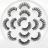 3D Wispies False Eyelashes Dramatic Lashes Bulk Extensions With Volume for Girl/Men Makeup Handmade Soft Eyelash,7PACK