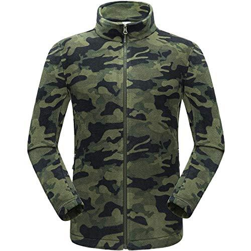 llzshoutao Blouson Chauffant Veste Polaire Automne Et Hiver Épaississement Extérieur Coupe Grande Taille Lâche 80545 Camouflage Vert armée