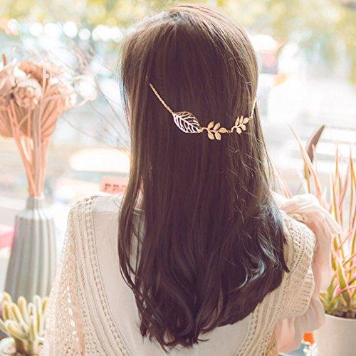 sharplace Barrette–Pinza para el pelo diadema diseño de hoja de aleación chapado en oro Mujer