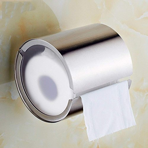 LQB Toilettenpapier-Zahnstangen-304 Edelstahl-Toiletten-Toiletten-kreativer Zylinder-Papierhandtuch-Zahnstangen- / Rollenpapier-Toilettenpapier-Halter- / Toilettenpapier-Behälter- / Gewebe-Kasten